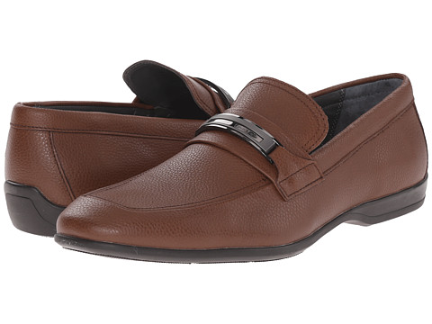 Incaltaminte Barbati Calvin Klein Vick Dark Brown Tumbled Leather