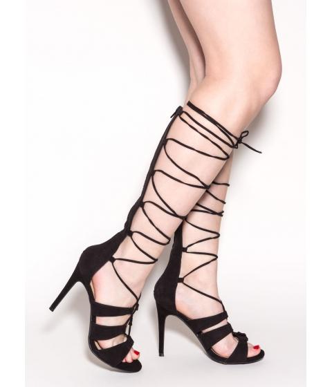 Incaltaminte Femei CheapChic Lotta Length Faux Suede Heels Black