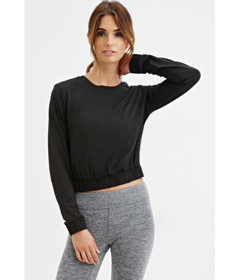 Imbracaminte Femei Forever21 Active Elastic-Waist Pullover Blackfiery red