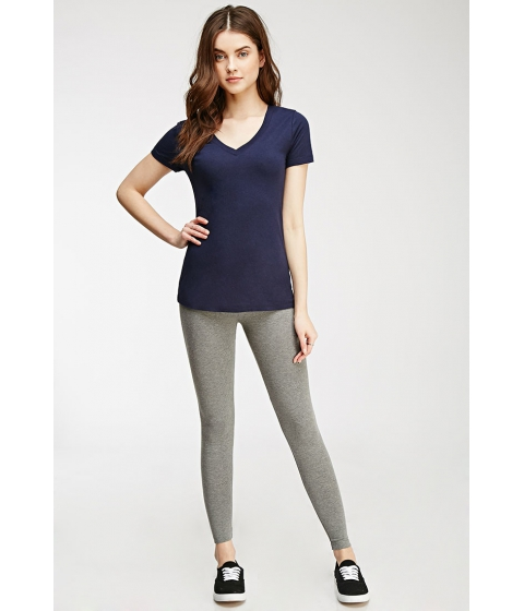 Imbracaminte Femei Forever21 Classic Cotton-Blend Leggings Heather grey