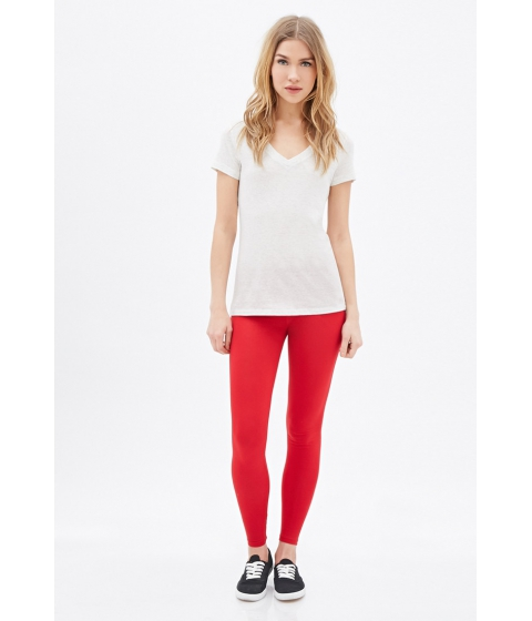 Imbracaminte Femei Forever21 Classic Leggings Red
