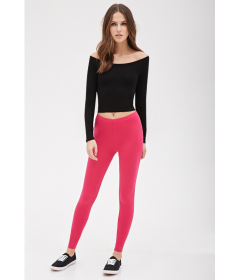 Imbracaminte Femei Forever21 Classic Leggings Hot pink
