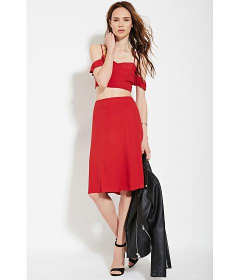 Imbracaminte Femei Forever21 Contemporary A-Line Skirt Red