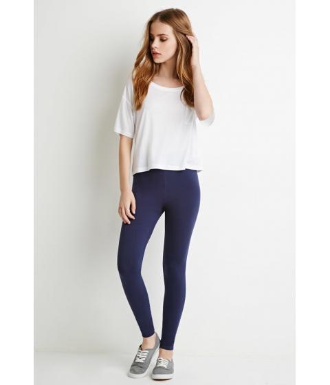 Imbracaminte Femei Forever21 Organic Cotton-Blend Leggings Navy