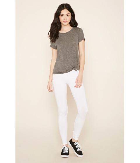 Imbracaminte Femei Forever21 Organic Cotton-Blend Leggings White