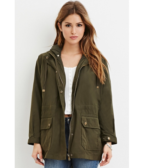 Imbracaminte Femei Forever21 2-in-1 Utility Jacket Olive