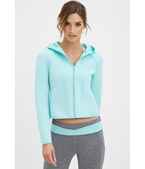 Imbracaminte Femei Forever21 Active Hooded Scuba Knit Jacket Mint