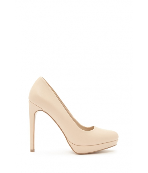 Incaltaminte Femei Forever21 Classic Faux Leather Pumps Nude
