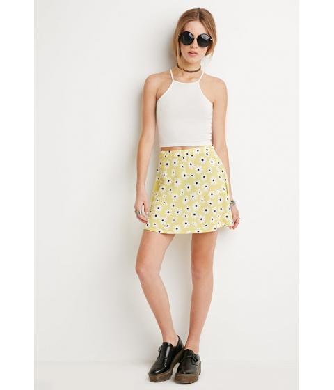 Imbracaminte Femei Forever21 Textured Daisy Print Skirt Yellowcream