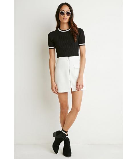 Imbracaminte Femei Forever21 Zip-Front Mini Skirt Cream