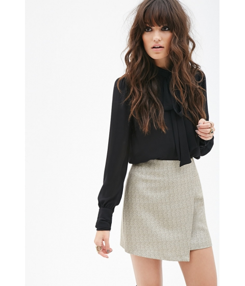 Imbracaminte Femei Forever21 Metallic Wrap Skirt Gold
