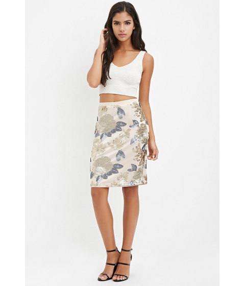 Imbracaminte Femei Forever21 Sequined Pencil Skirt Champagnemulti