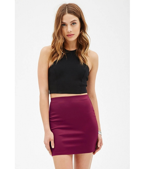 Imbracaminte Femei Forever21 Knit Mini Skirt Berry