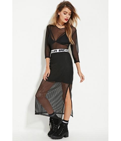 Imbracaminte Femei Forever21 Eric Lani Netted-Mesh Maxii Skirt Black
