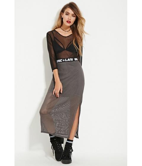Imbracaminte Femei Forever21 Eric Lani Netted-Mesh Maxii Skirt Grey