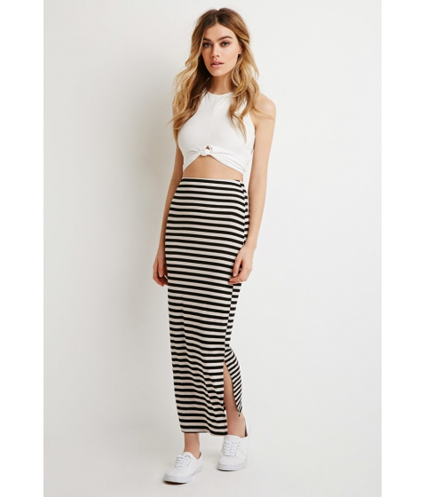 Imbracaminte Femei Forever21 Stripe Maxi Skirt Blacktaupe