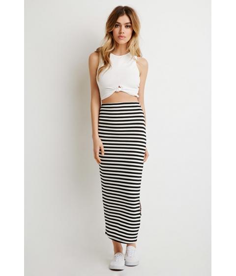 Imbracaminte Femei Forever21 Stripe Maxi Skirt Blackcream