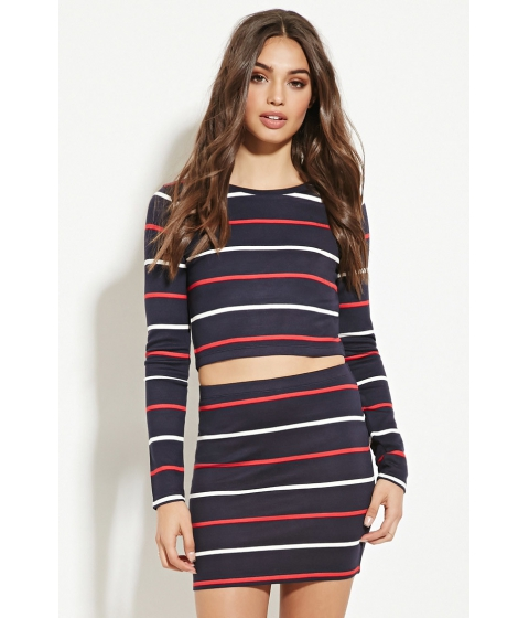 Imbracaminte Femei Forever21 Striped Mini Skirt Navyred