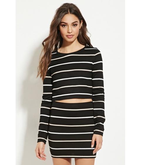 Imbracaminte Femei Forever21 Striped Mini Skirt Blackcream