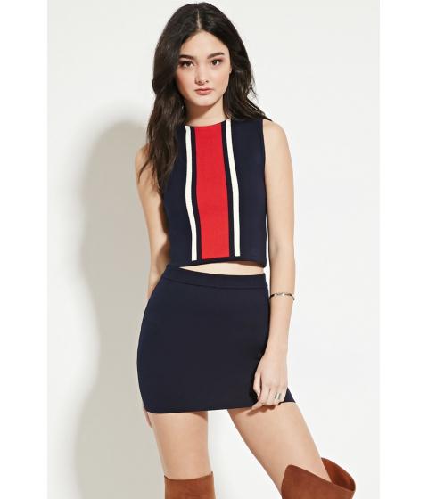 Imbracaminte Femei Forever21 Knit Mini Skirt Navy
