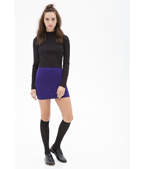 Imbracaminte Femei Forever21 Knit Bodycon Skirt Grape