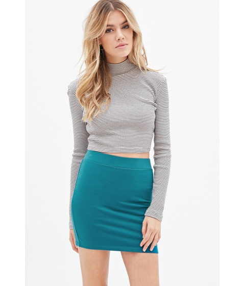 Imbracaminte Femei Forever21 Knit Bodycon Skirt Teal