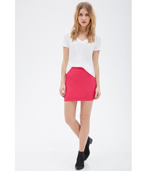 Imbracaminte Femei Forever21 Knit Bodycon Skirt Fuchsia