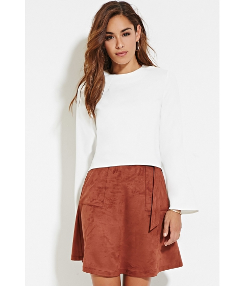 Imbracaminte Femei Forever21 Faux Suede D-Ring Skirt Rust
