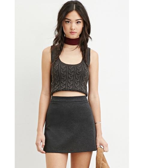 Imbracaminte Femei Forever21 Zippered Skater Skirt Charcoal