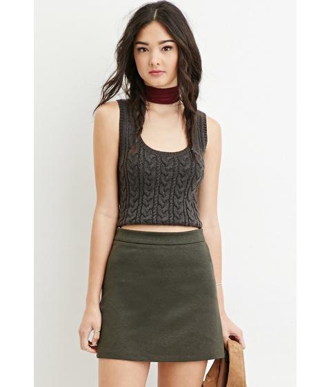 Imbracaminte Femei Forever21 Zippered Skater Skirt Olive