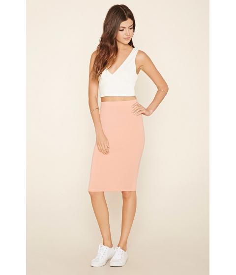 Imbracaminte Femei Forever21 Stretch Knit Pencil Skirt Peach