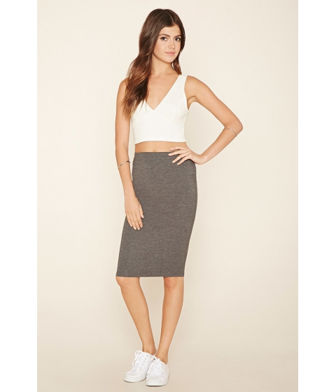 Imbracaminte Femei Forever21 Stretch Knit Pencil Skirt Charcoal
