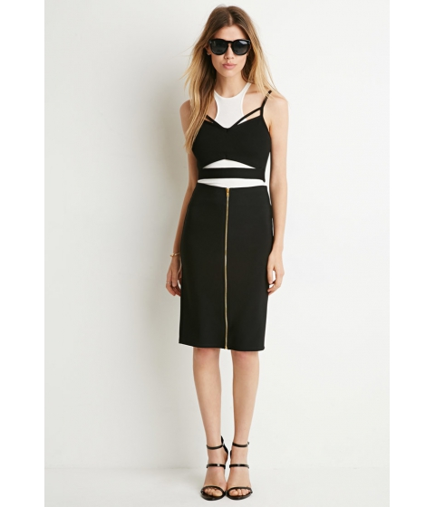 Imbracaminte Femei Forever21 Zipper-Front Pencil Skirt Black