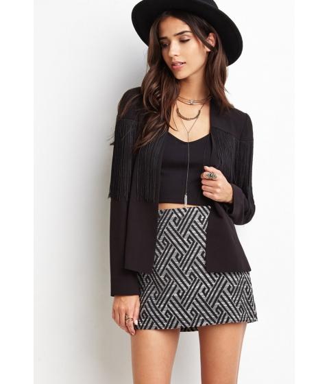 Imbracaminte Femei Forever21 Abstract Geo Mini Skirt Blackcream