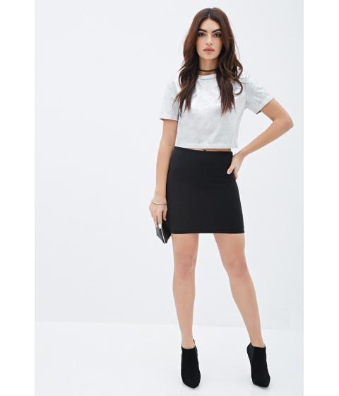Imbracaminte Femei Forever21 Ribbed Mini Skirt Black