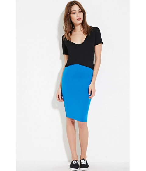 Imbracaminte Femei Forever21 Heathered Pencil Skirt Imperial blue