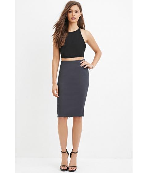 Imbracaminte Femei Forever21 Ribbed Pencil Skirt Dark grey