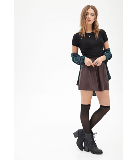 Imbracaminte Femei Forever21 Faux Leather Flared Skirt Burgundy
