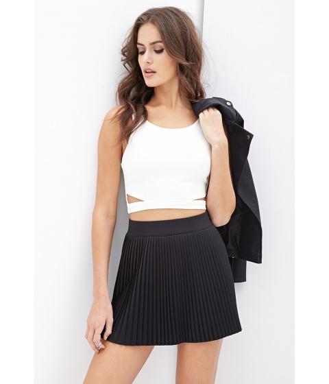 Imbracaminte Femei Forever21 Accordion-Pleated Skirt Black