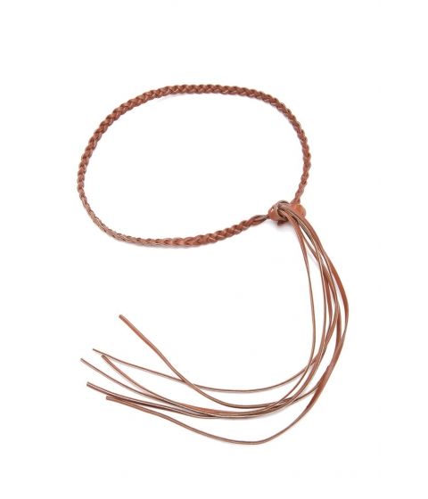 Accesorii Femei Forever21 Braided Faux Leather Belt Brown