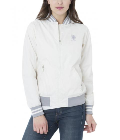 Imbracaminte Femei US Polo Assn BASEBALL JACKET SNOW WHITE