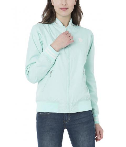 Imbracaminte Femei US Polo Assn BASEBALL JACKET BEACH GLASS