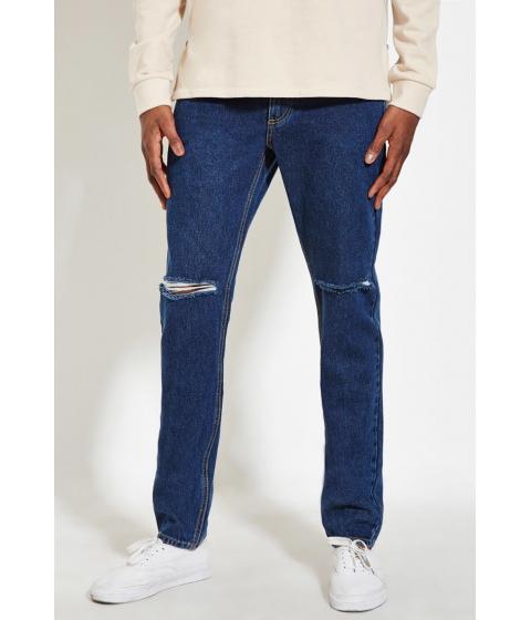 Imbracaminte Barbati Forever21 Slim Fit Distressed Jeans Light denim