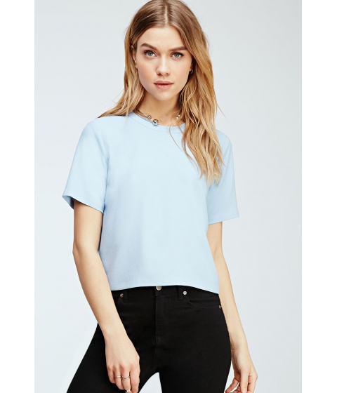 Imbracaminte Femei Forever21 Crepe Zippered Blouse Blue