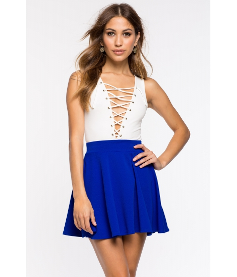 Imbracaminte Femei CheapChic Fearless Flare Skirt Neon Royal