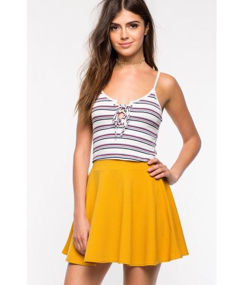 Imbracaminte Femei CheapChic Fearless Skater Skirt Mustard