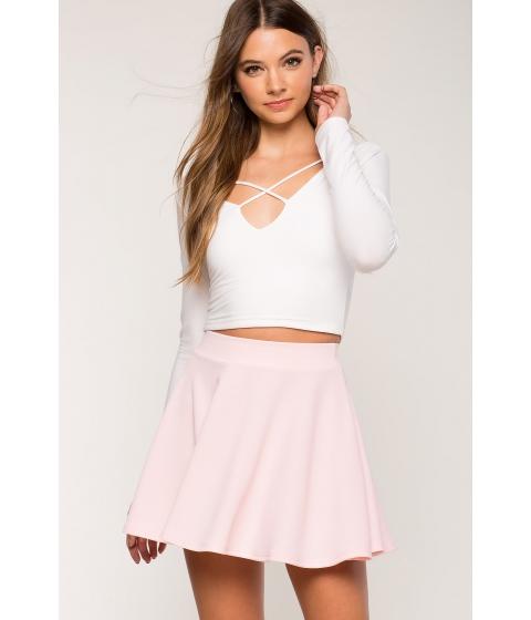 Imbracaminte Femei CheapChic Fearless Skater Skirt Pastel Pink