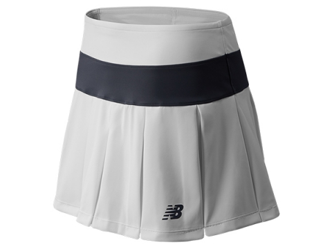 Imbracaminte Femei New Balance Womens Tournament Pleated Skort White with Silver Mink
