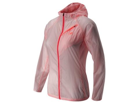 Imbracaminte Femei New Balance Ultra Hooded Jacket Fiji with Bright Cherry