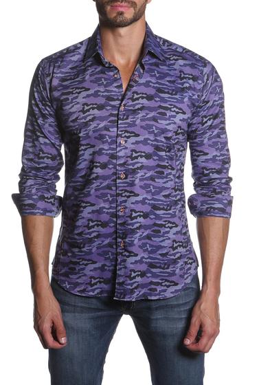 Imbracaminte Barbati Jared Lang Long Sleeve Camo Print Semi-Fitted Shirt Purple Camo